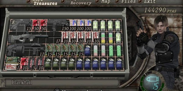 RE 4 inventory