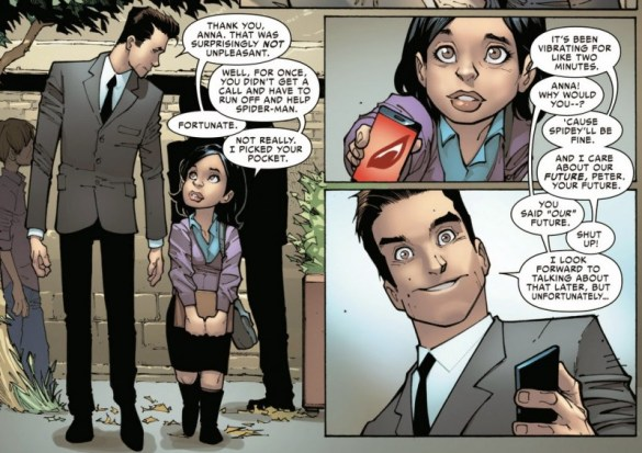 Peter Parker aka Doc Ock and Anna Maria Marconi