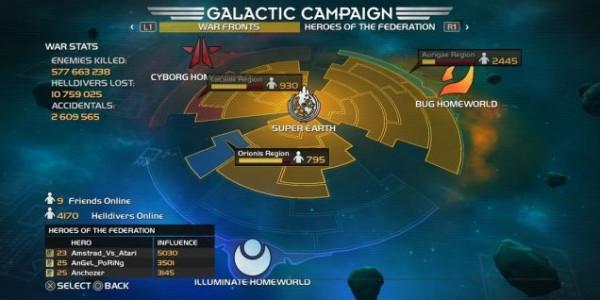 Helldivers galaxy map