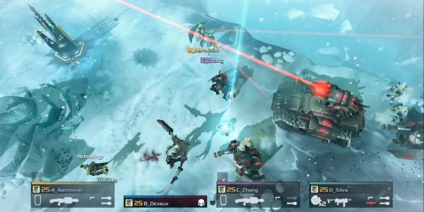 Helldivers snow cyborgs