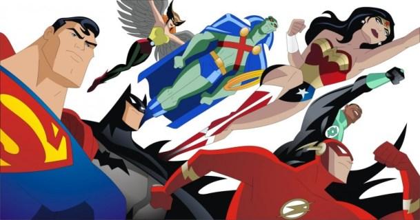 Superman, Batman, Martian Manhunter, Hawkgirl, Wonder Woman, Green Lantern, The Flash - Justice League