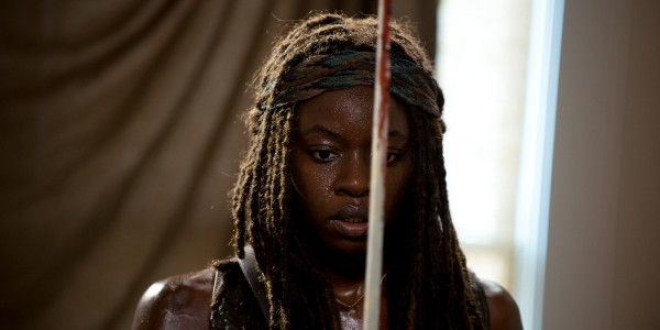 Danai Gurira as Michonne - The Walking Dead _ Season 6, Episode 8 - Photo Credit: Gene Page/AMC