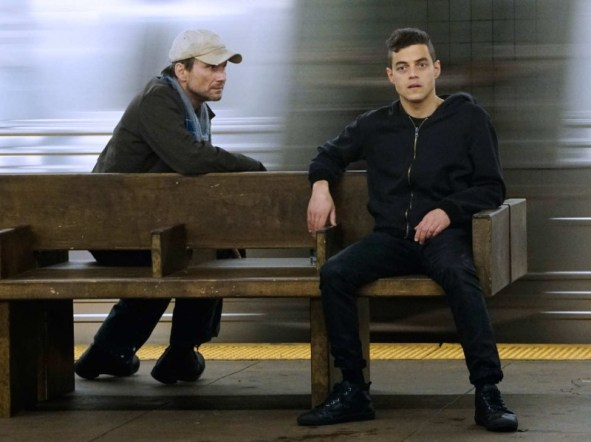 Christian Slater as Mr. Robot and Rami Malek as Mr. Robot, two of the intriguing characters on my favorite show of the year. Photo by USA.