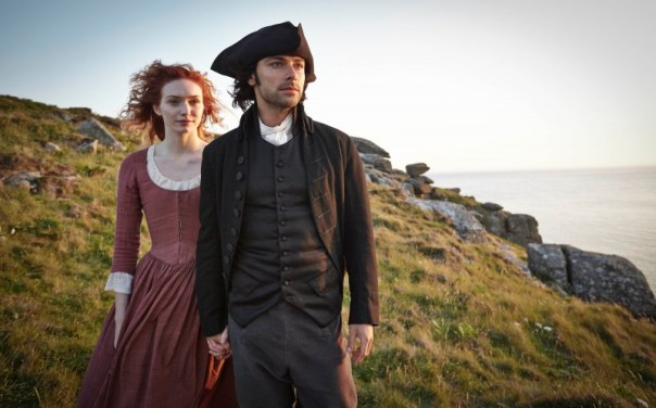 Demelza (Eleanor Tomlinson) and Ross (Aidan Turner) bravely challenge and dismantle the societal norms of England's 18th century together. Photo by PBS.