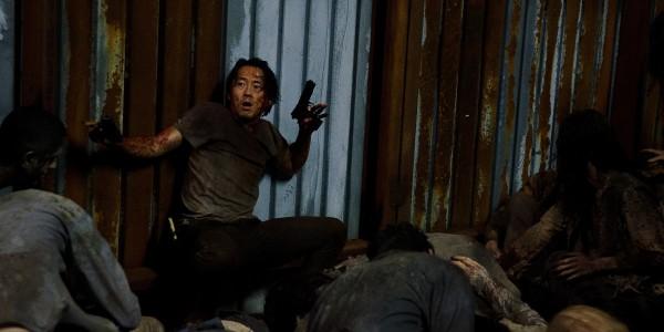 Steven Yeun as Glenn Rhee- The Walking Dead _ Season 6, Episode 9 - Photo Credit: Gene Page/AMC