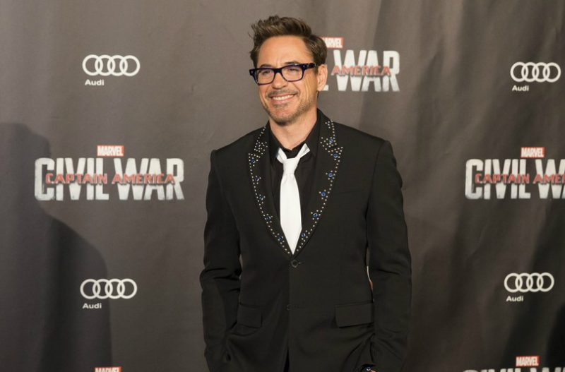 """Captain America Civil War"" French Premiere in Paris the 18 april 2016 in the presence of the actors Robert Downey Jr. , Don Cheadle, Emily VanCamp and the Director Anthony Russo"