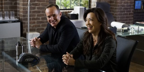 "MARVEL'S AGENTS OF S.H.I.E.L.D. - ""Meet the New Boss"" - Daisy goes to battle Ghost Rider at a terrible cost, and Coulson faces the new Director, and his bold agenda surprises them all, on ""Marvel's Agents of S.H.I.E.L.D.,"" TUESDAY, SEPTEMBER 27 (10:00-11:00 p.m. EDT), on the ABC Television Network. (ABC/Jennifer Clasen) CLARK GREGG, MING-NA WEN"