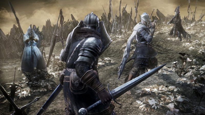 Can you spot the player about to get a hard lesson in Dark Souls?
