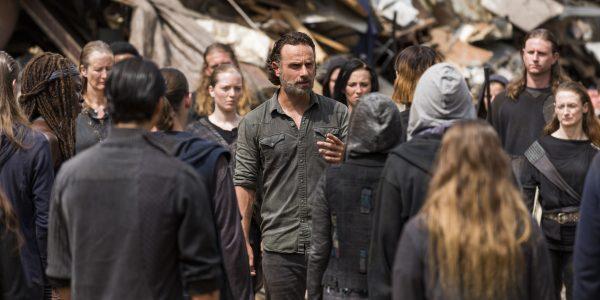 Andrew Lincoln as Rick Grimes, Danai Gurira as Michonne; Scavengers- The Walking Dead _ Season 7, Episode 10 - Photo Credit: Gene Page/AMC