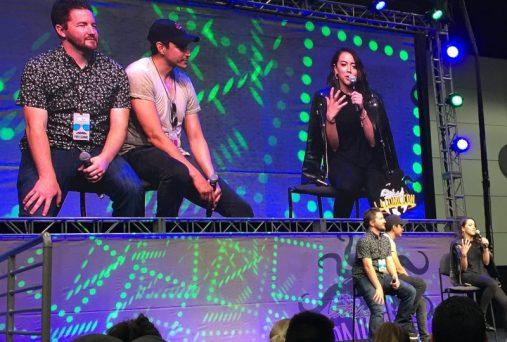 Chloe Bennet Gabriel Luna L.A. Comic Con