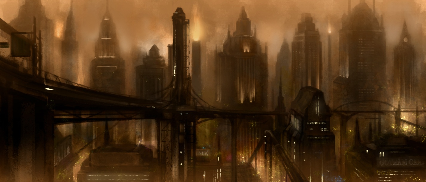 Arkham City Dev Shows Off Moody Concept Art The Escapist