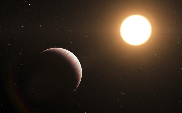 Vue d'artiste de l'exoplanète Tau Bootis b