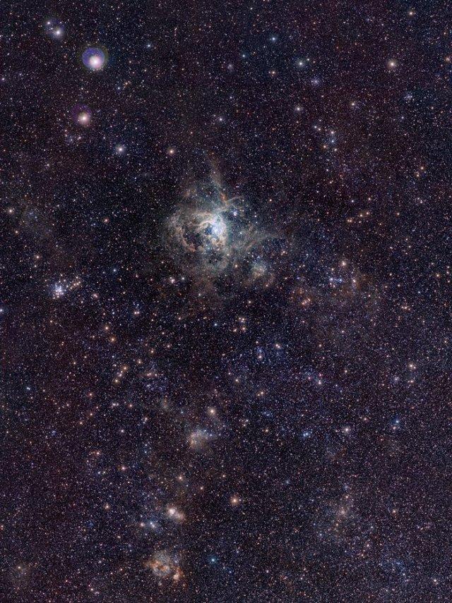 Imagen de la Nebulosa de la Tarántula con el Rastreo de VISTA a la Nube de Magallanes