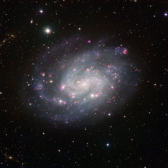 Visión de la galaxia espiral austral NGC 300 obtenida por el Wide Field Imager