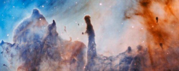 Büyük kütleli yıldızların oluşumlarının sonucunda kendisinden doğdukları bulutu yok etmeye başlamaları oldukça ironik (Telif: ESO/A. McLeod).