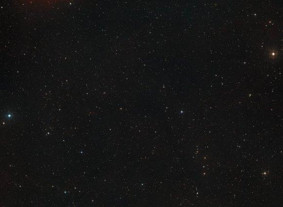 Digitized Sky Survey image around the Hubble ultra Deep Field