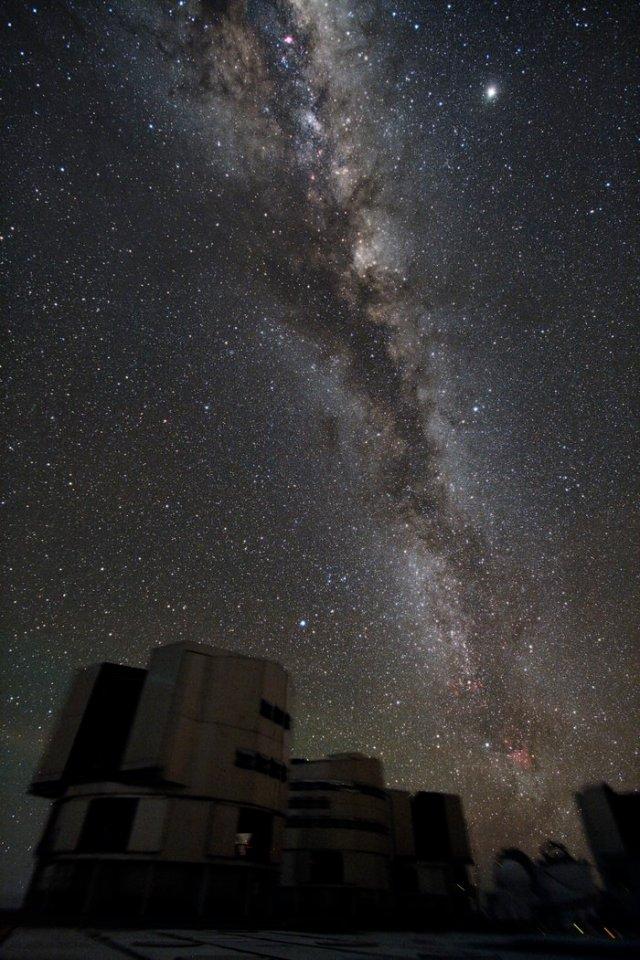 Foto de grupo del VLT con la galaxia