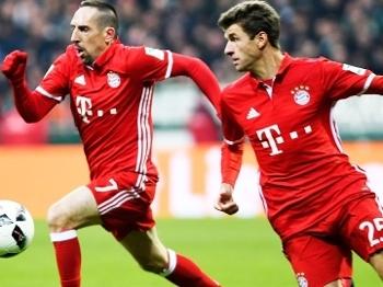 Thomas Muller Ribery Bayern Werder Bremen Campeonato Alemão 28/01/2017
