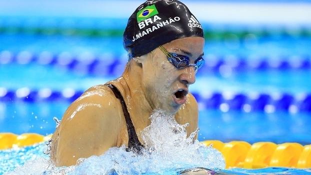 A nadadora Joanna Maranhão