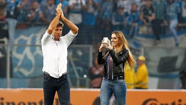 Carol Portaluppi, filha de Renato Gaúcho, acompanhou pai após Grêmio x Cruzeiro