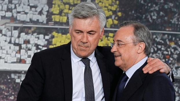 Demitido nesta segunda-feira, Carlo Ancelotti permaneceu dois anos no comando do Real Madrid; pelos merengues, conquistou a Champions League em 2014
