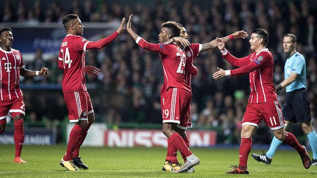 Bayern de Munique venceu o Celtic na Escócia