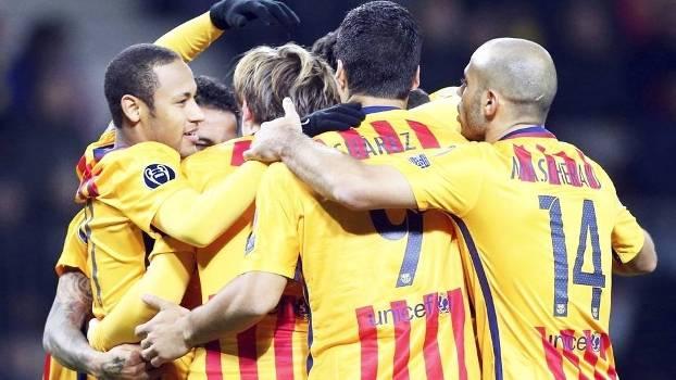 Barcelona Comemora Gol BATE Borisov Champions 20/10/2015