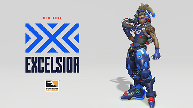 Sterling VC será a New York Excelsior, equipe que representará a 'Big Apple' na Overwatch League.