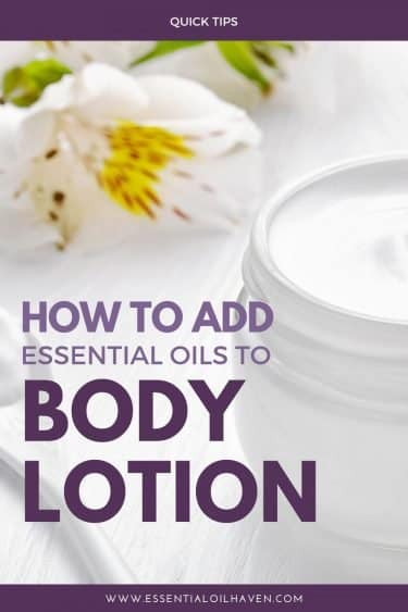 essential oils in unscented body lotion tutorial