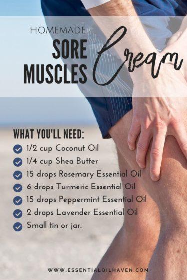 homemade sore muscles rub recipe