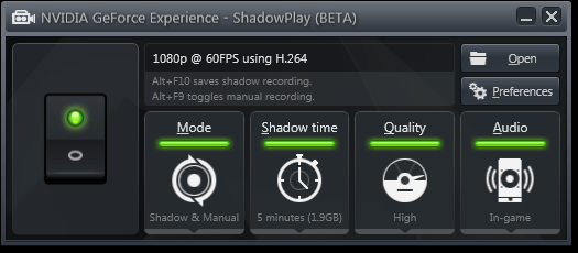 Nvidia ShadowPlay Spécial (1)