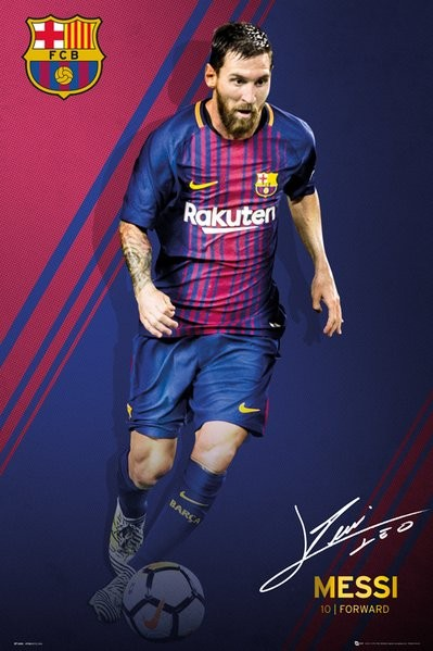 fc barcelona messi 17 18 poster all posters in one place 3 1 free