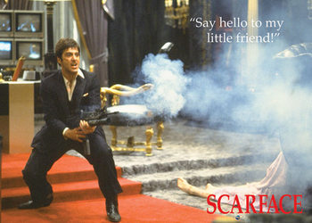 framed poster scarface say hello to my little friend