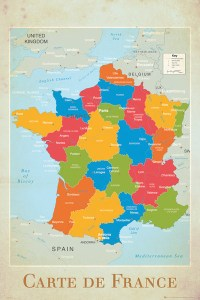 France map   Map of France Poster   Sold at Europosters France map   Map of France Poster