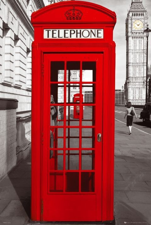 London Telephone Box Poster EuroPosters