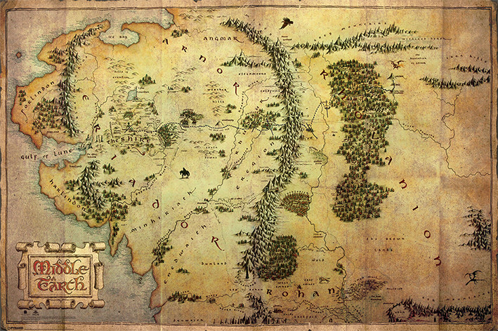 The Hobbit   Journey Map Poster   Sold at Europosters