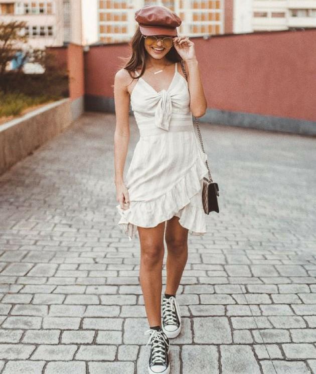 Vestido com tênis: invista neste visual cheio de estilo - Eu Total
