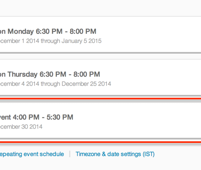 The Updated Event In Your Event Schedule Should Now Show Under Event Dates On Your Edit