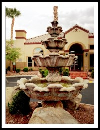 Tuscan Villas, front drive fountain