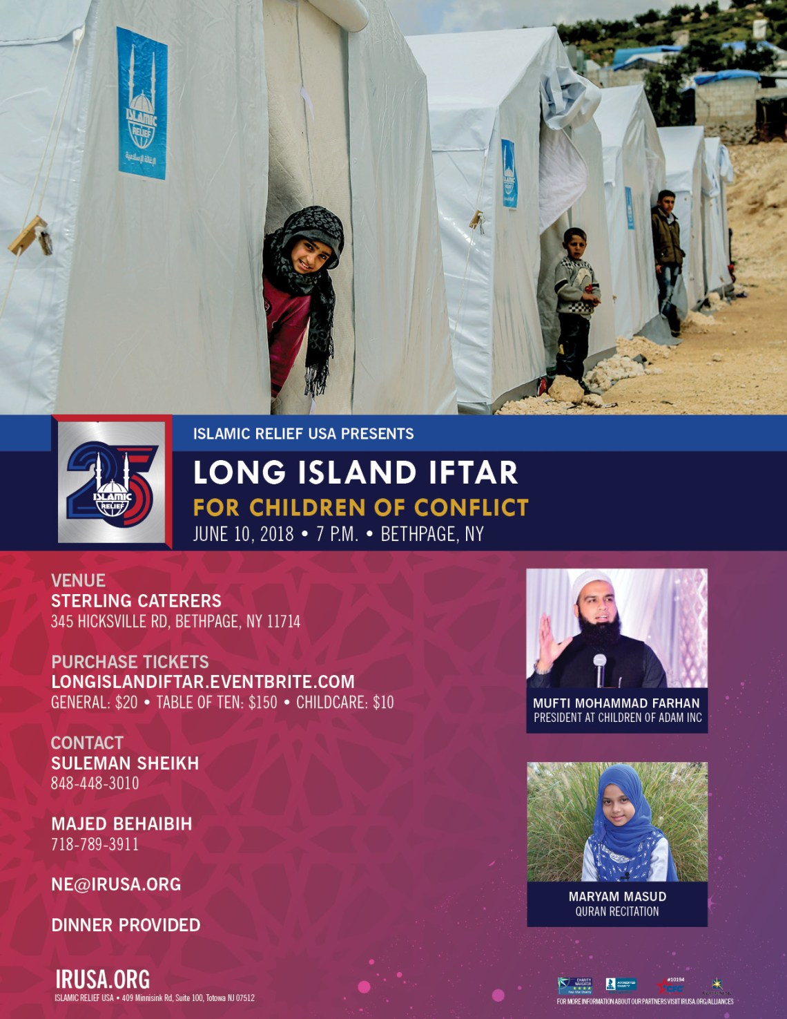 Long Island: Benefit Iftar for Children in Conflict