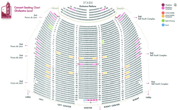 Fox seating chart atlanta the fox theatre pomona seating chart