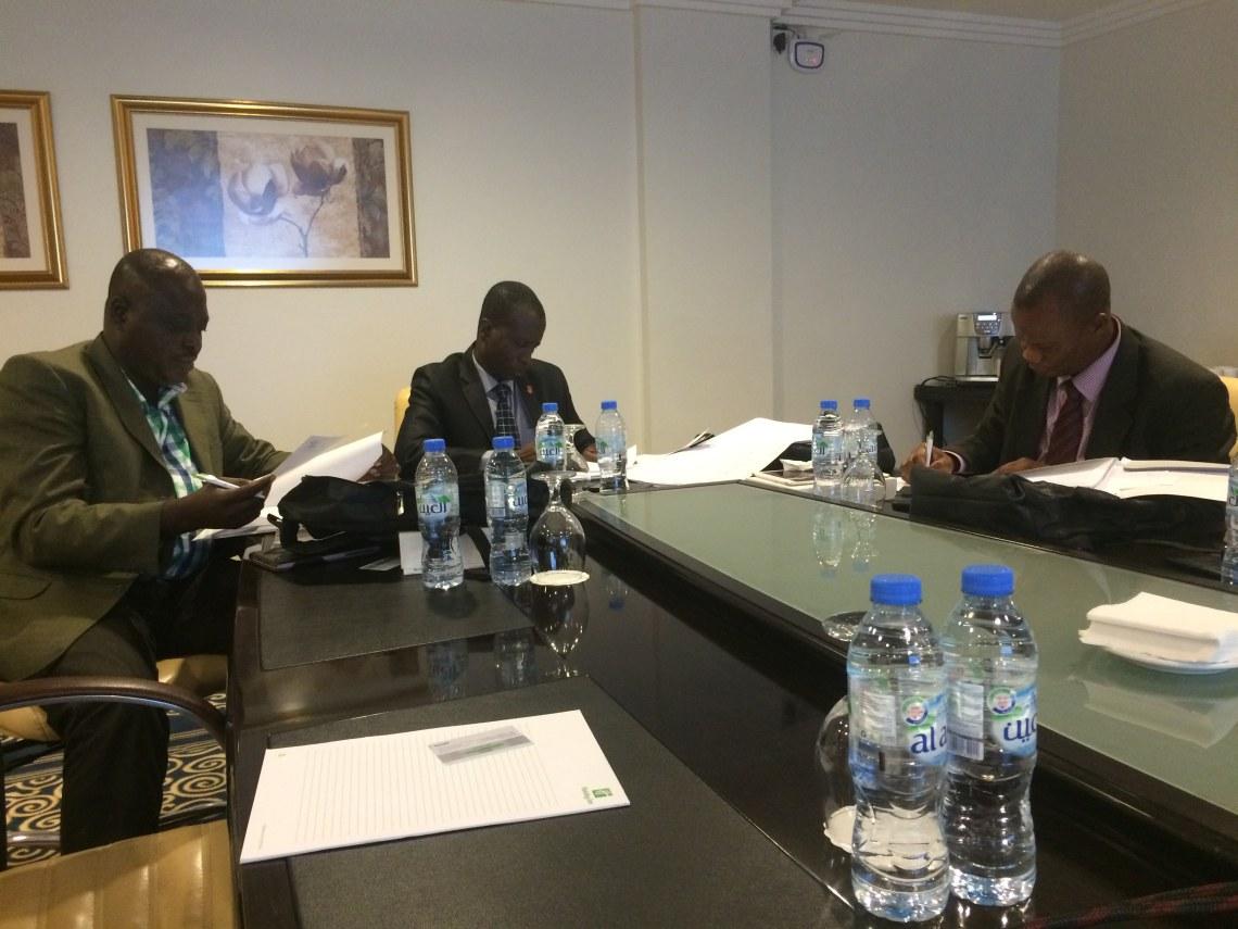 Delegates discussing a case in Dubai