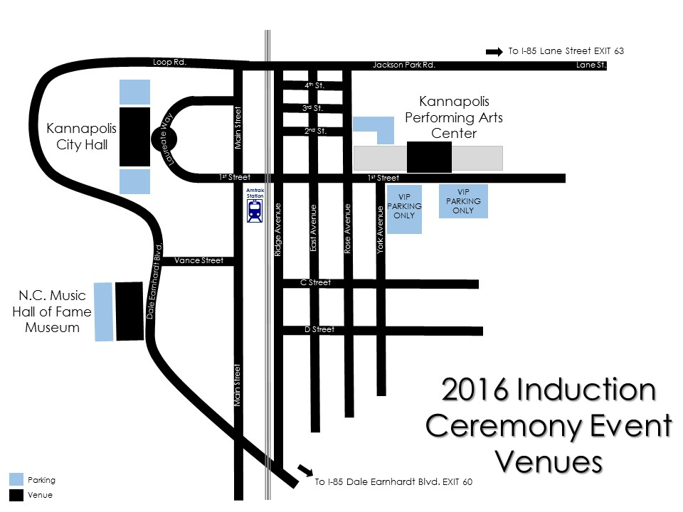 2016 Induction Venue Map