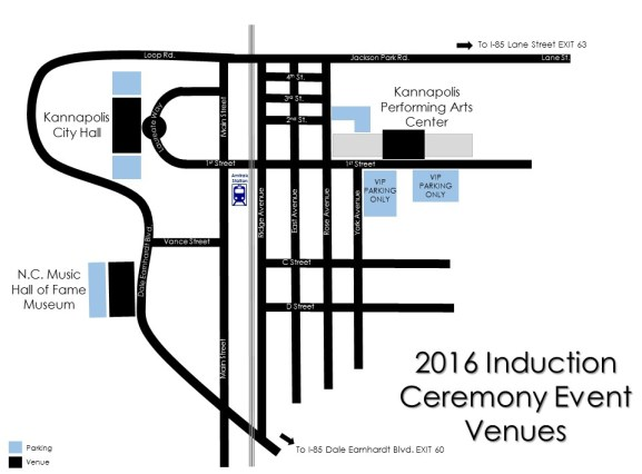 2016 Induction Venue Map