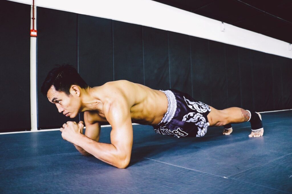 Planks work all the muscles in your core.