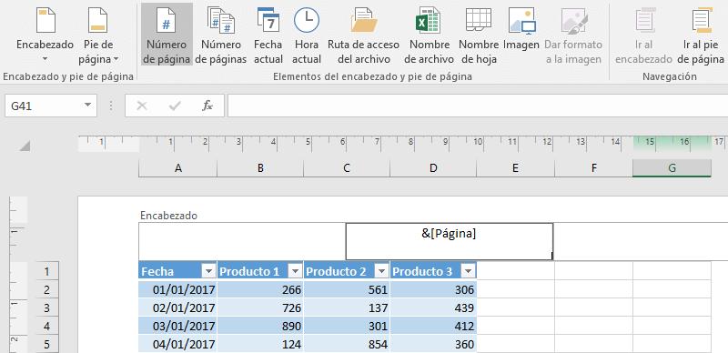 Numerar hojas en Excel