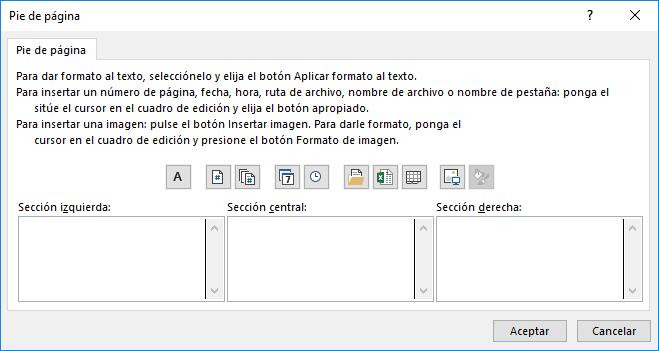 Añadir números de página en encabezado y pie de página
