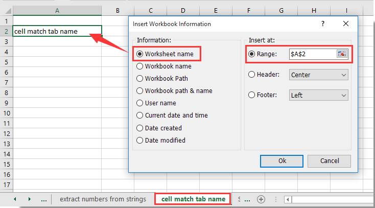 How To Match The Cell Value With Sheet Tab Name Or Vice Versa In