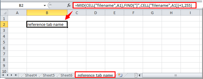 How To Reference Tab Name In Cell In Excel