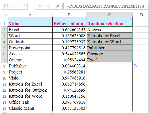 How To Select Random Data From A List Without Duplicates